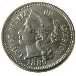 США 1889 три четверти никелевая КОПИЯ монета