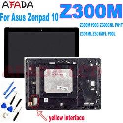Aaa + para asus zenpad 10 z300 z300m p00c z300cnl p01t z301ml z301mfl p00l lcd screen display toque digitador assembléia com quadro