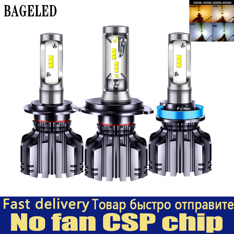 BAGELED CSP Car Headlight H4 H7 LED 3000K 4300K 6500K 8000K H1 H3 H8 H9 H11 9005 9006 HB3 HB4 880 881 LED Bulb Auto Fog  Light 1