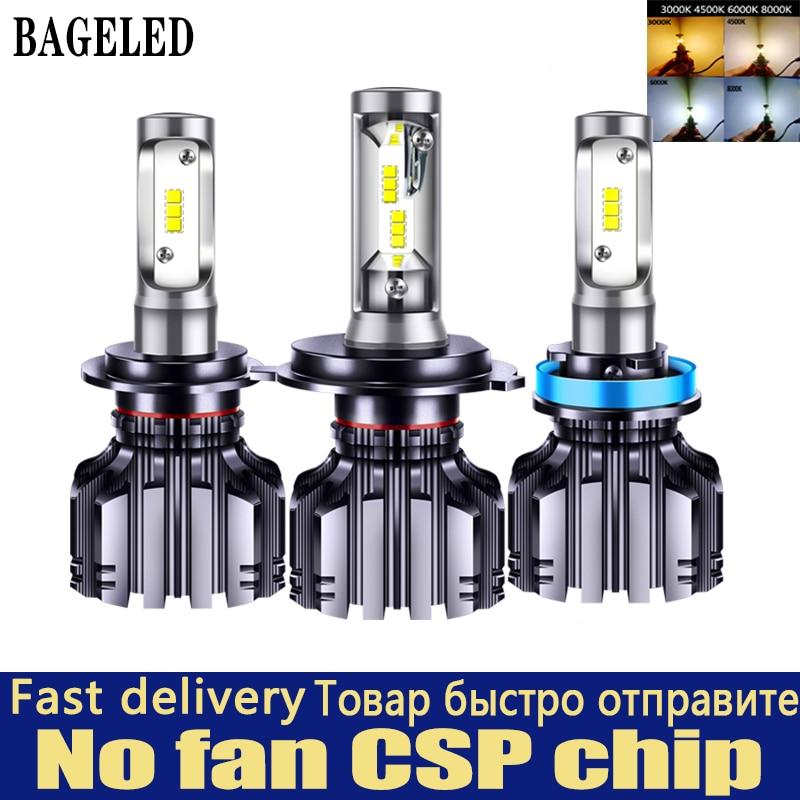 Bageled Csp Auto Koplamp H4 H7 Led 3000K 4300K 6500K 8000K H1 H3 H8 H9 H11 9005 9006 HB3 HB4 880 881 Led Lamp Auto Mistlamp