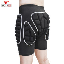 WOSAWE Motorcycle Shorts Leg Protector Support Sports Impact Shorts Skiing Motocross Shorts Hip Protective Bottom Padded Shorts(China)