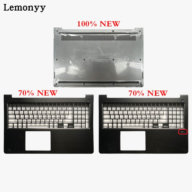 New laptop shell Para Dell Vostro 15 5568 V5568 Maiúsculas Palmrest cinza Escuro/tampa da caixa Inferior 0HJP49 0FCN57 0JD9FG