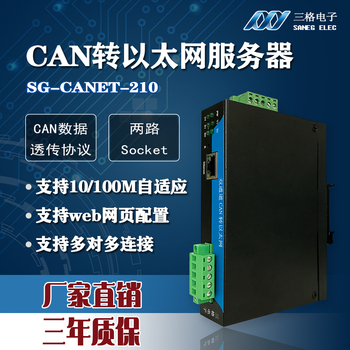 Dual-channel CAN-to-Ethernet CAN Server Industrial-grade Guide Rail CAN-to-network Port