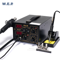 WEP 852D 700W Soldering Iron Soldering Station With Hair Dryer BGA Soldering Station SMD Rewok Station