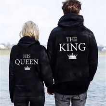 King And Queen Sweatshirt Aesthetic Hoodie Pull Harajuku Long Sleeve Letter Print Online Shop Clothing Black Womens