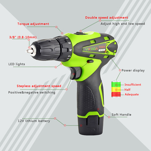Image 2 - YIKODA 12V Cordless Drill Electric Screwdriver Rechargeable Lithium Ion Battery Parafusadeira Two speed Driver Power Tools