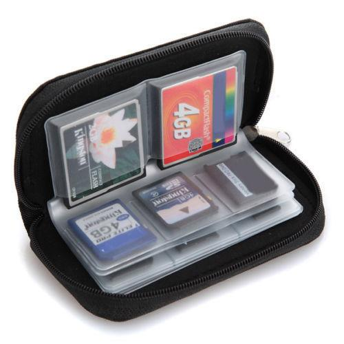 Function Memory Card Cases Credit Holder SDHC MMC CF For Micro SD TF ID Men Women Stick Storage Bag Carrying Pouch Protector