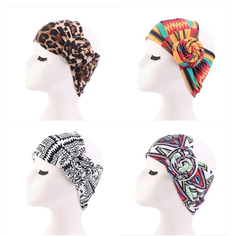 2020 africain impression Stretch coton bandeau pour femmes élastique Turban tête écharpe dames bandeau tête enveloppement cheveux accessoires