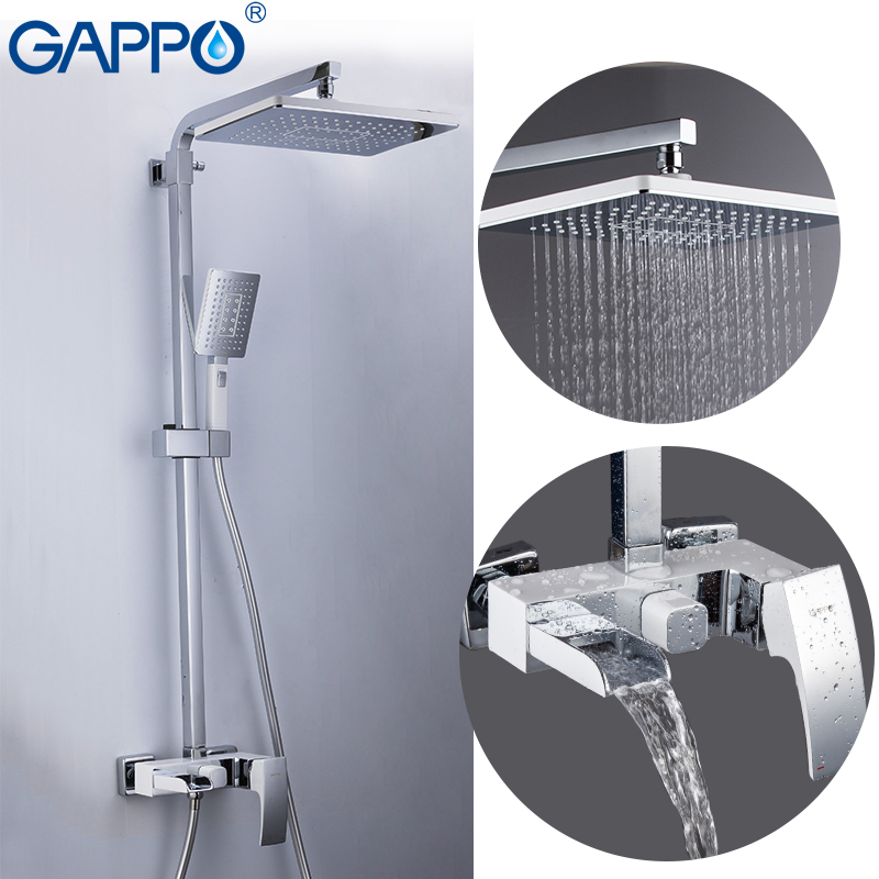 GAPPO Shower Faucet brass bathroom shower set wall mounted massage shower head bath mixer bathroom shower faucet taps