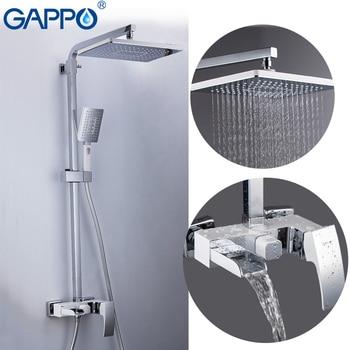 цена GAPPO Shower Faucet brass bathroom shower set wall mounted massage shower head bath mixer bathroom shower faucet taps онлайн в 2017 году