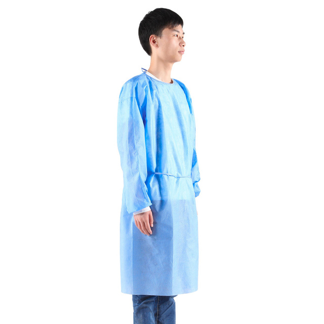 100pcs Disposable Security Protection Clothes Adult Disposable Gowns Dustproof Anti Infection Capes PPE Suit Isolation Gowns 2