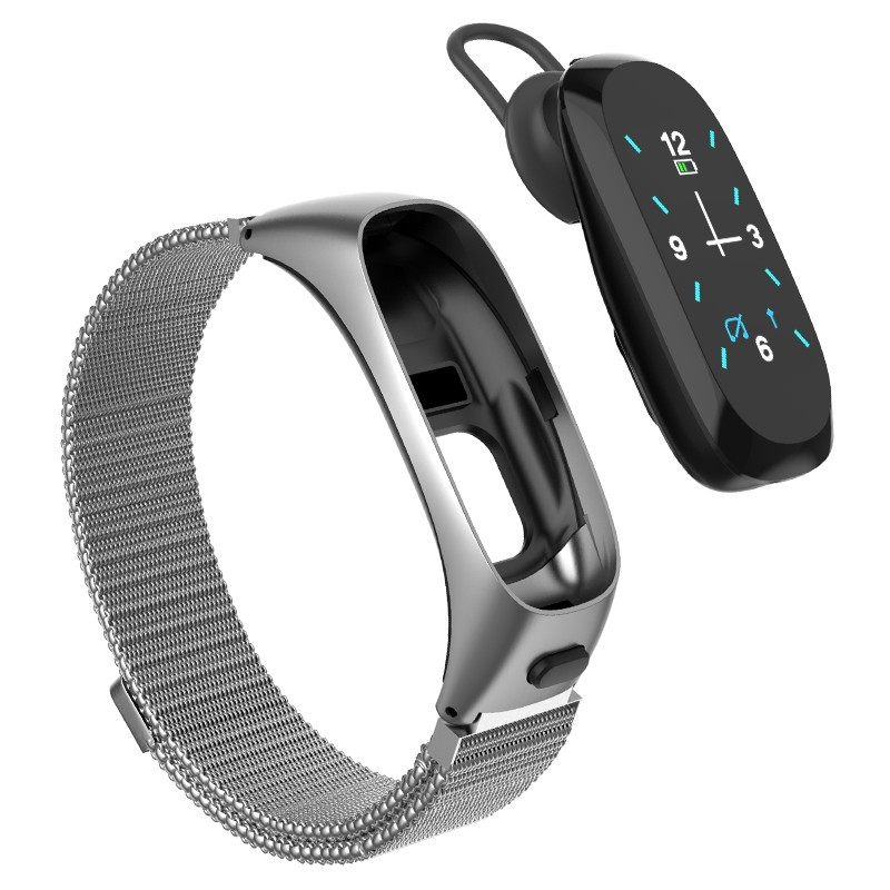 DMDG Smart Band With Detachable Bluetooth Headset Sport Waterproof Pedometer Smartwatch Wirstband Heart Rate Fitness Tracker