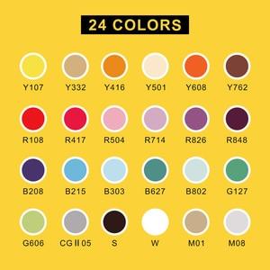 Image 5 - Arrtx 아크릴 마커 펜 세라믹 바위 유리 도자기 낯 짝에 대 한 영구 페인트 24 색 나무 캔버스 회화 아트 디자인 공급 업체