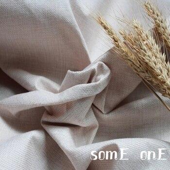 Tela de lino de algodón Beige de 50x145cm, vestido rígido DIY de color sólido, camisa Cheongsam, almohada de retazos, tela de diseño literario juvenil