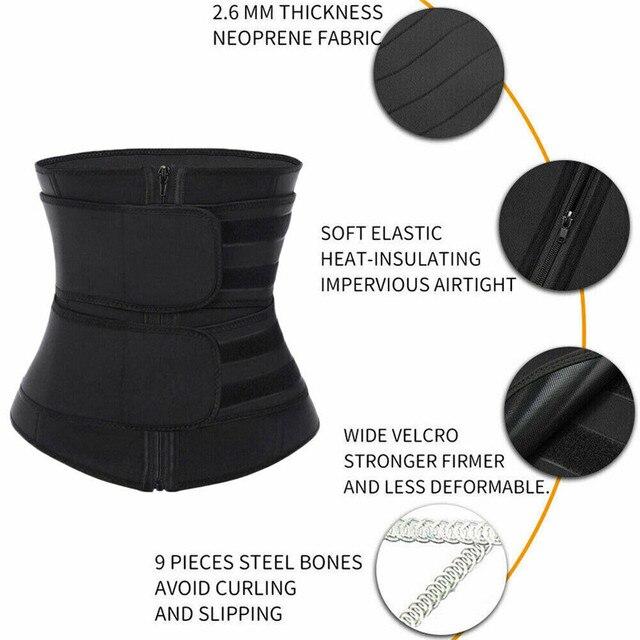 2019 New Women Waist Trainer Neoprene Belt Sauna Sweat Body Shaper Tummy Control Slim Waist Trainer Cincher Trimmer Sweat Belt 2