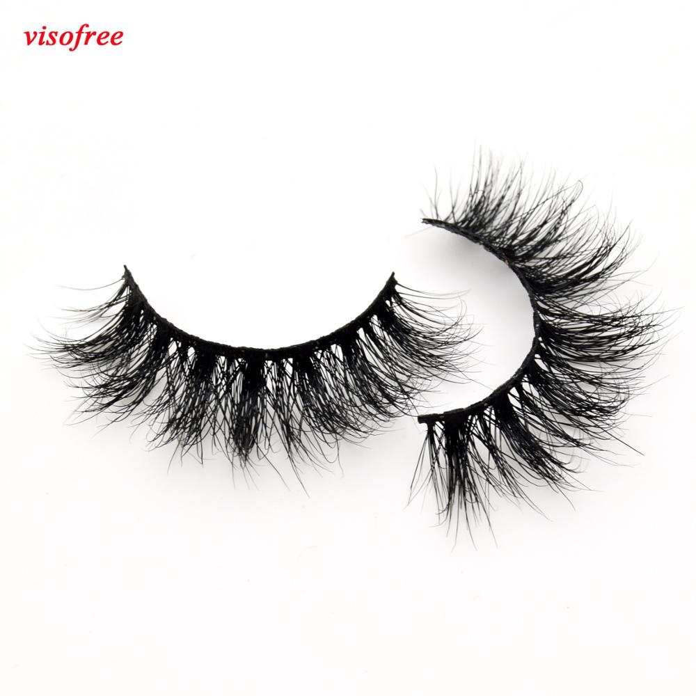 Visofree Mink Eyelashe False Eyelashes Dramatic Mink Lashes Thick False Eyelashes Handmade Eye-lashes Beauty Cils Extension D109
