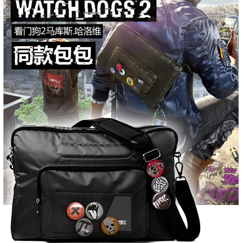 Game Watch Dogs 2 Marcus Holloway Cosplay Bag Adult Unisex Watch Dog Cosplay Costume Marcus Harlow's Shoulder Cross Body Bag