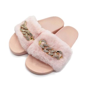 Women Summer Furry Slippers Fa