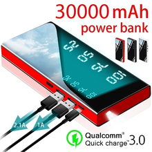30000mAh Power Bank Portable Charger Power Bank with 2.1A External Battery Pack for IPhone IPad & Samsung Galaxy & More