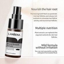 Сыворотка для роста бороды LANBENA укрепляет более толстые и предотвращает выпадение волос и питает корневые волосы более полное Уход за волос...