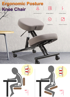 Stainless steel Ergonomic Posture Knee Chair with Silent pulley Ergonomically Designed Kneeling Chair Office Furniture Computer