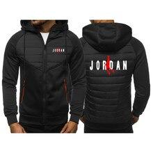 2021 primavera outono super jordan 23 hoodies homens imprimir com capuz jaqueta com zíper moda quente acolchoado novidade faculdade encanador popular co
