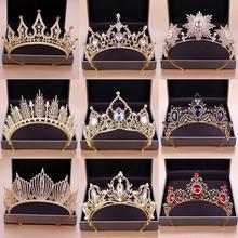 Новые свадебные аксессуары для волос Тиара для невесты корона золотая цепочка на голову кусок свадебные аксессуары для волос короны королева диадема
