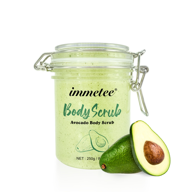Avocado Body Scrub Exfoliating Scrub Deep Cleansing Pore Acne Treatment Exfoliating Gel Brightening Avocado Whitening Body Scrub 1