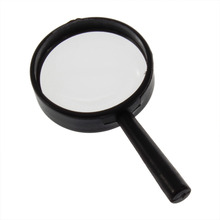Dropshipping 1 pcs Free Shipping Reading 5X Magnifier Hand Held Magnifying 25mm Glass handheld  Hot Selling bijia 6x high end hand held reading magnifier black