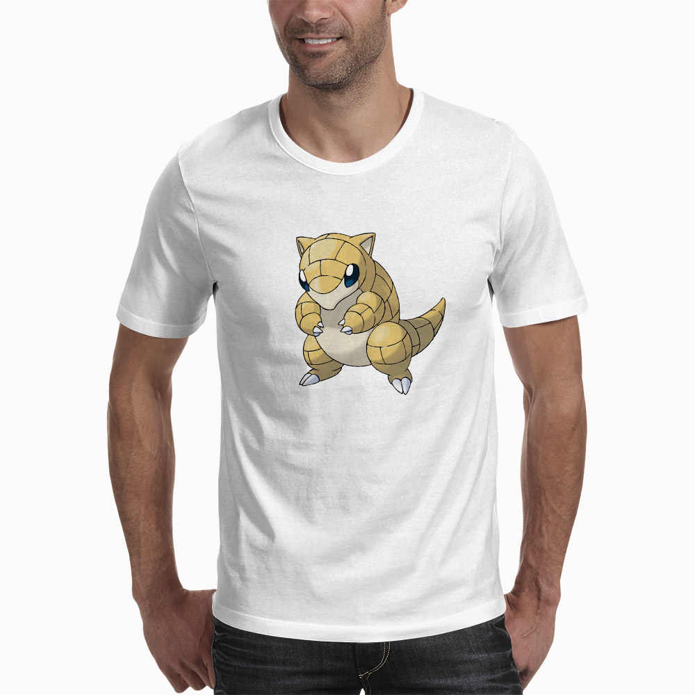 Sandshrew Korte Mouwen Plus Size Mannen Kleding T-shirt Fashion Mooie Pokemon T-shirt Anime Mannen T-Shirts
