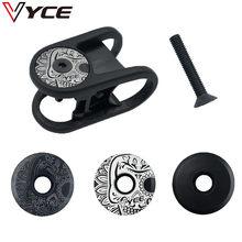Vyce liga de alumínio mtb estrada bicicleta tigela capa da haste tampa superior para 28.6mm garfo tubo fone de ouvido tampa ciclismo acessórios