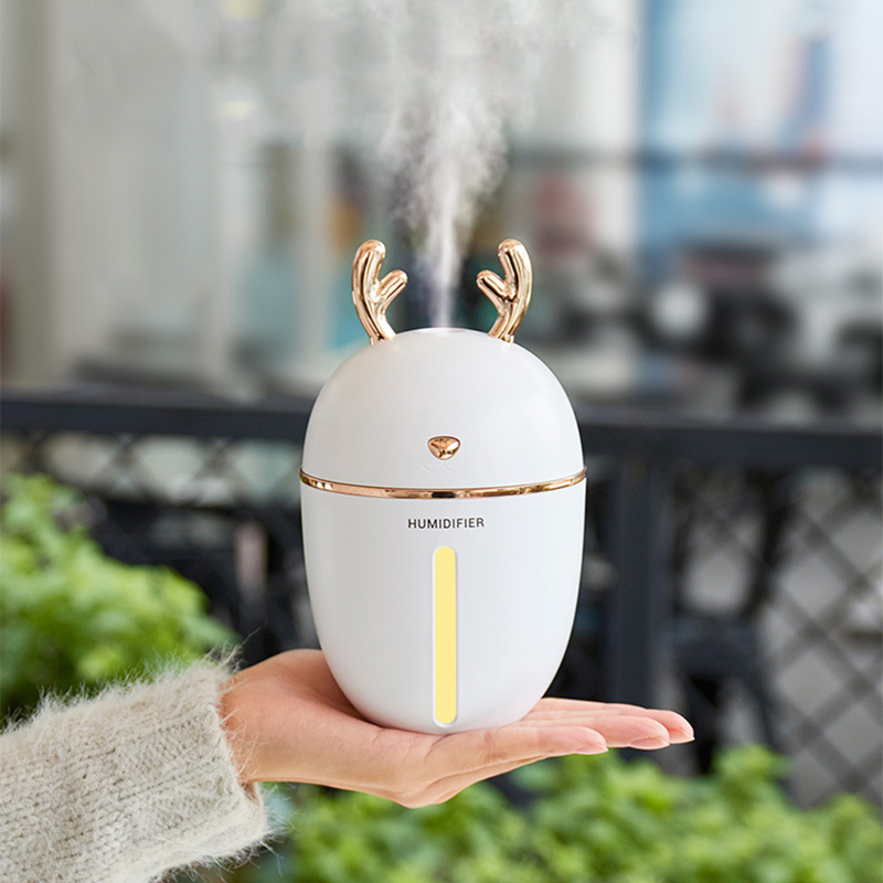 Mini Deer Air Humidifier USB Diffuser Led Light Aromatherapy Essential Oil Diffuser Home Mist Maker Fogger Air Purifier For Car