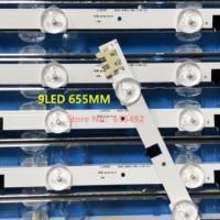 655 MILÍMETROS LEVOU Para SamSung Sharp 32''TV FHD D2GE 320SC1 R0 CY HF320BGSV1H UE32F5000AK UE32f5500AW UE32F5700AW HF320BGS V1 100% NOVO|Luzes LED p/ bar| |  -