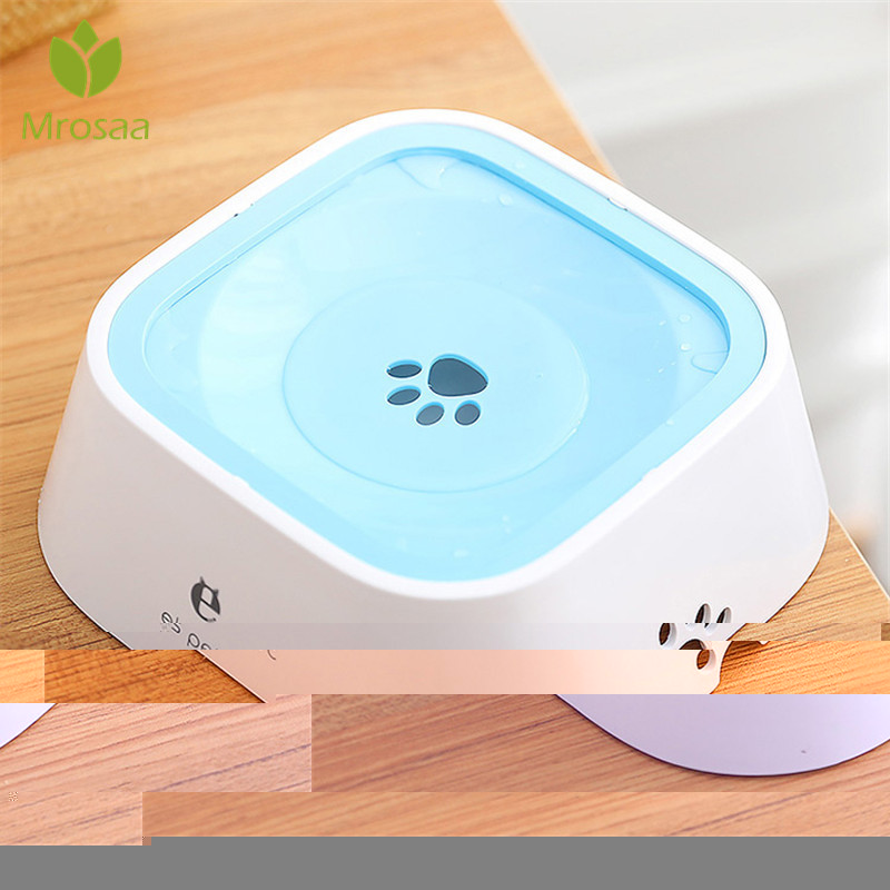 2019Newest 1500ml Pet Dog Drinking Water Bowls Cat Bowls Not Wetting Mouth Hair Plastic Portable Dog Bowls Drinking Water Feeder