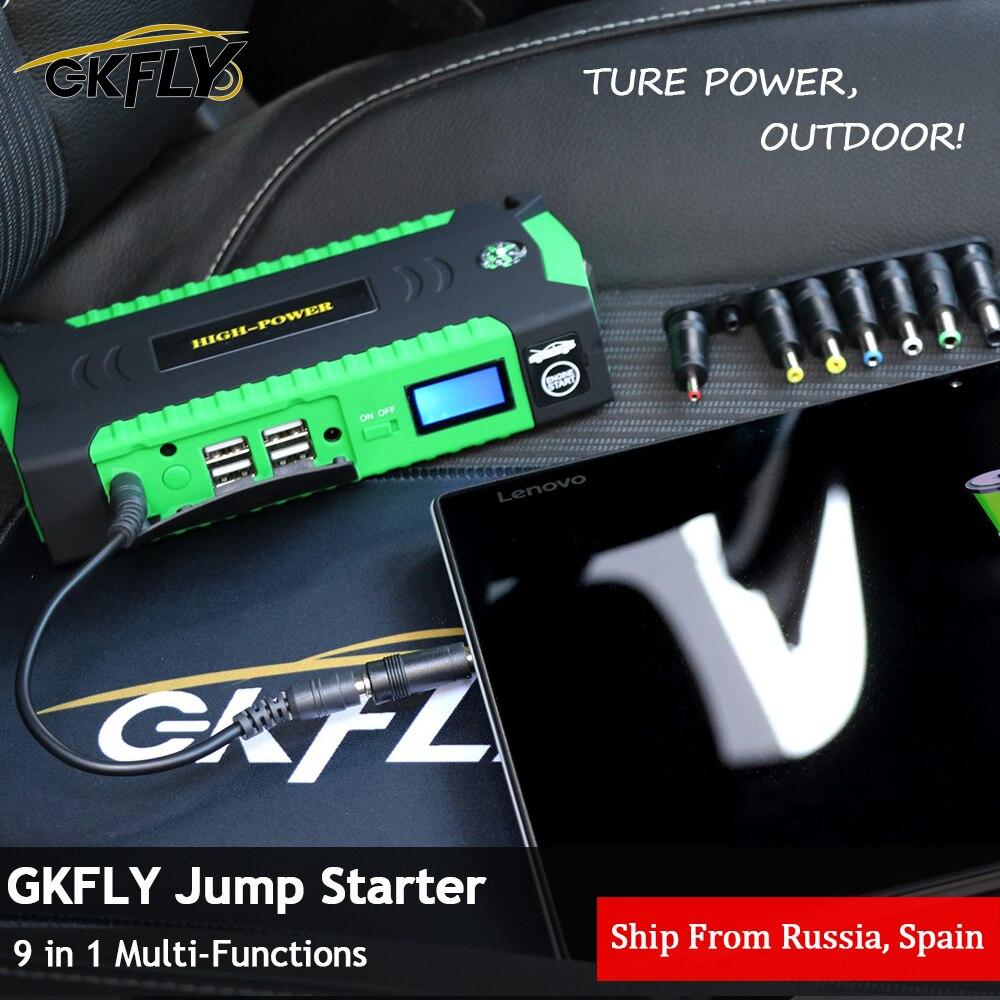 GKFLY High Power 16000mAh Starting Device 12V 600A Car Jump Starter Power Bank Car Battery Charger For Petrol Diesel Booster LED|Jump Starter| |  - title=