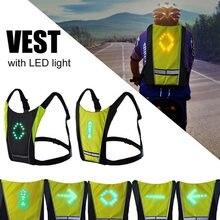 Chaleco de seguridad para ciclismo, luz LED intermitente, reflectante, con remo, 20L, 2020