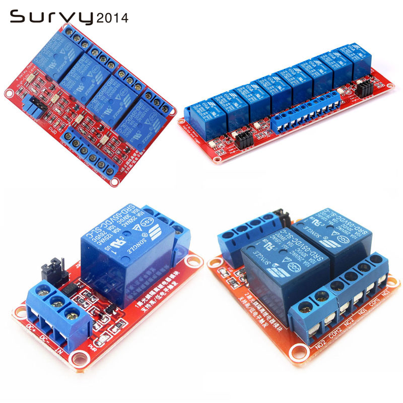 One 1/2/4/8 Channel 5V Relay Module Board Shield for Arduino with Optocoupler Support High and Low Level Trigger
