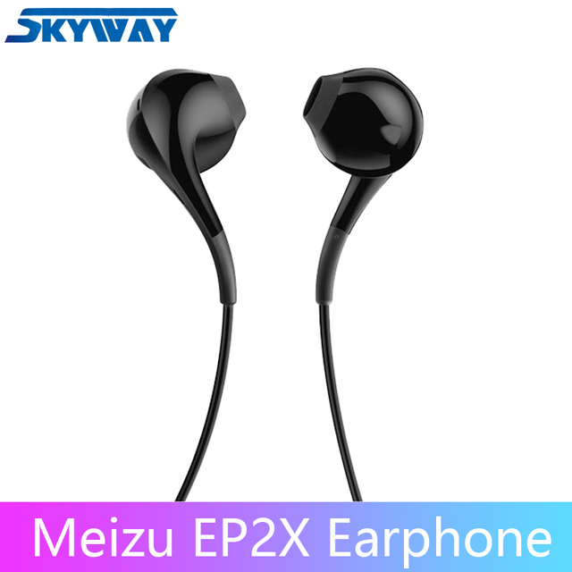 Original MEIZU Earphone EP2X in Ear with Microphone 14mm Superfine fiber paper membrane HD Sound Quality Headset
