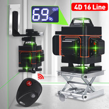 Laser Level 16/12 Lines 4D Green Light LED Wireless Auto Self Leveling 360 Laser Levels Horizontal Vertical Cross Remote Control
