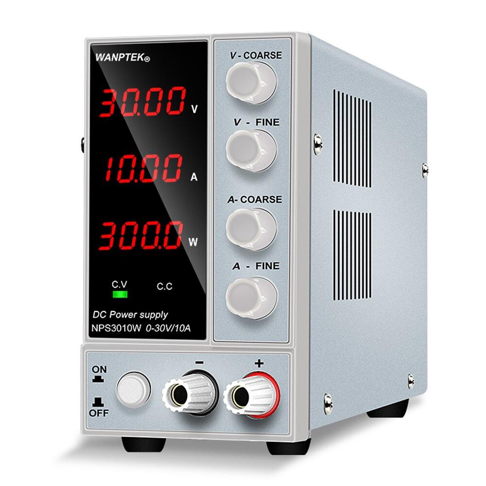 Wanptek Adjustable DC power supply 30V 10A LED Digital Lab Bench Power Source Stabilized Power Supply Voltage Regulator Switch-1