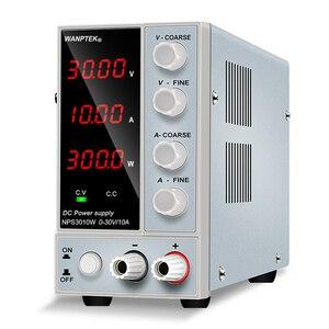 Wanptek Регулируемый источник питания постоянного тока 30 в 10 А светодиодный цифровой лабораторный настольный источник питания стабилизирован...