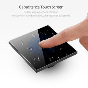 Image 3 - Touch Switch 3,2,1 Gang 1 Way,สวิตช์หน้าจอสัมผัส,สวิทช์คริสตัลแก้วคริสตัลFitสำหรับหลอดไฟLED 220V 230V EU UK