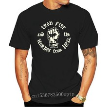 Iron Fist And The Hordes From Hell Screen Printed T-shirt Mot&oumlrhead NWOBHM Punk