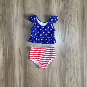 Girls Patriotic Swim Set