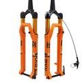 Велосипедная MTB вилка 26 27 5 29er  дюймовая подвеска вилка  замок  прямой  через ось QR  быстросъемный  регулировка отскока