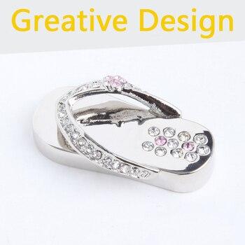 Fashion 16GB 32gb 2.0 Usb Flash Drive 1TB Memory Stick Pen Drive 2TB Necklace Jewelry Crystal Shoes Gift Pendrives 64GB 128GB