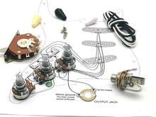 Kit de câblage de potentiomètre Alpha 250K pour plectres de guitare, pour-Stra CDE 716P .047 100V, capuchon de goutte Orange + ligne de soudage