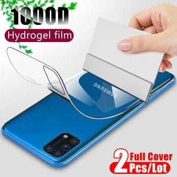 Pellicola salvaschermo posteriore 1000D per Samsung Galaxy A50 A51 A71 A70 A10 A20 S10 S8 S9 S20 Plus nota 20 Ultra 10 Lite non vetro temperato protezioni di schermo bicchieritrasparente