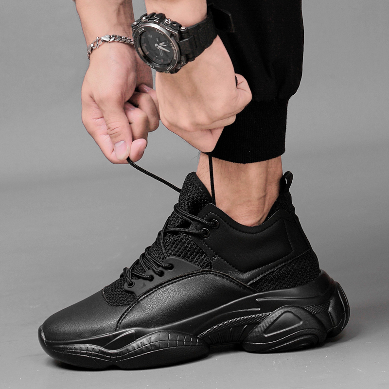 New Men Casual Shoes Sneakers Genuine Leather Man Shoes Size 36-44 Unisex Shoes Popular Student Shoes chaussures femme