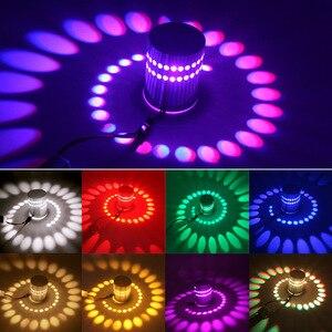 Настенный светильник RGB, светодиодный, 3 Вт, с регулируемой яркостью, с дистанционным управлением, с эффектом крепления поверхности, для KTV, и...